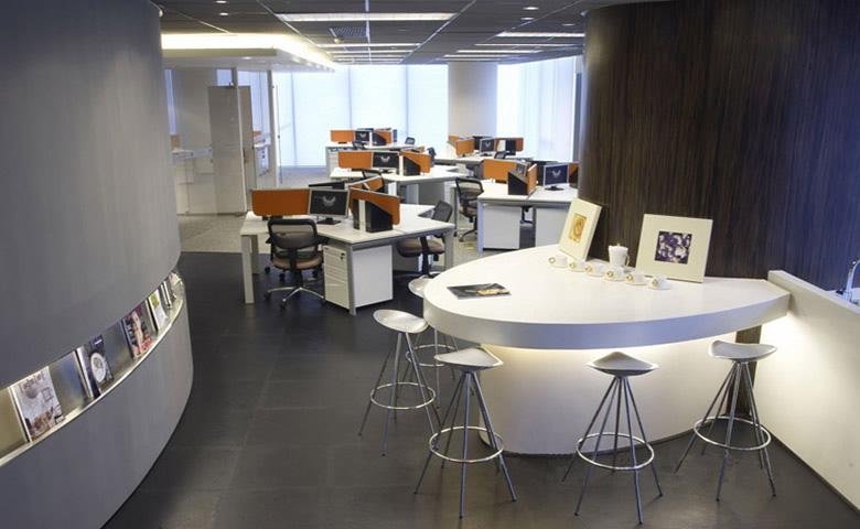 郑州大方的设计公司办公室装修效果图