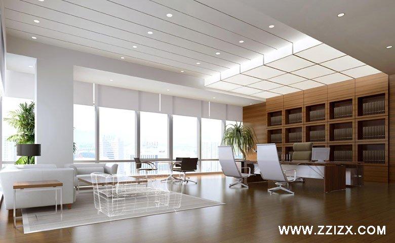 郑州投资管理公司办公室装修效果图