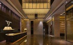 郑州高档的新中式风格酒店装修效果图