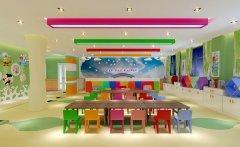 郑州简单大方的幼儿园装修效果图
