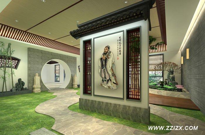 郑州书法教育培训机构装修设计效果图