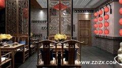 郑州中式餐饮装修设计中式风格餐饮店如